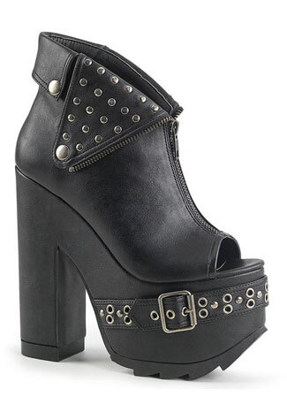 CRAMPS-103 Black Platform Boots