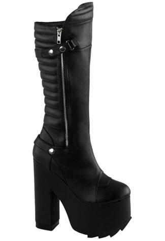 CRAMPS-200 Black Vegan Boots