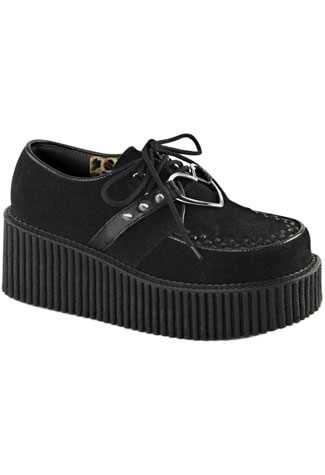CREEPER-206 Black Vegan Shoes