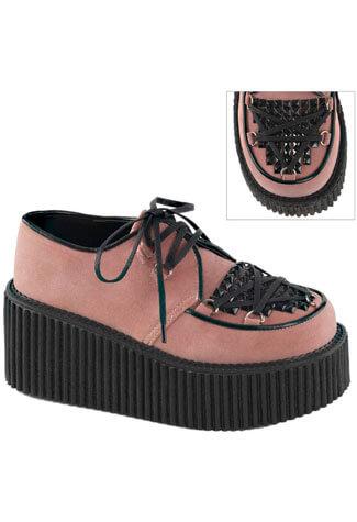 CREEPER-216 Pink Vegan Shoes