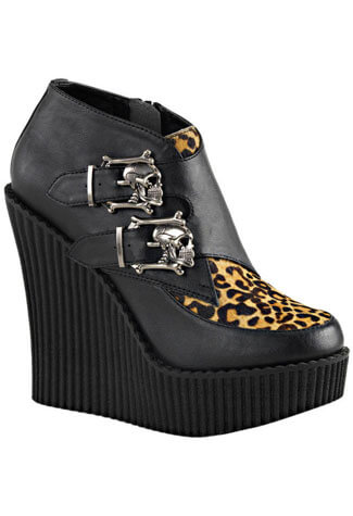 CREEPER-306 Leopard Print Creepers