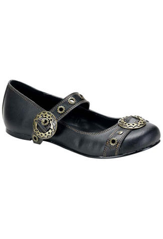 DAISY-09 Black SteamPunk Shoes