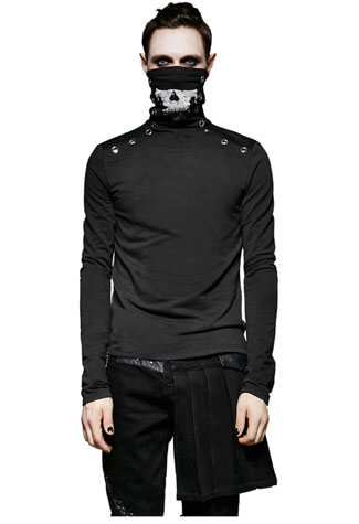 Damien Men's Skull Long Sleeve Shirt