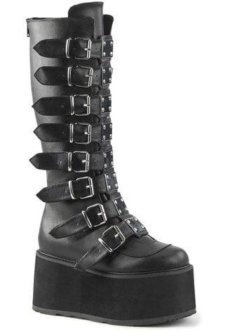 Damned-318 Black Platform Boots