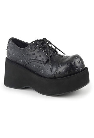 DANK-111 Platform Lace-Up Oxford Shoe