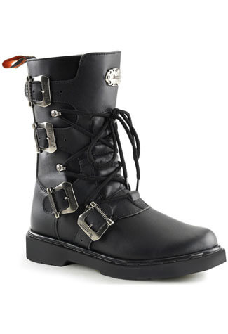 DEFIANT-306 Black Combat Boots