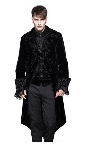 Devil's Fashion Men's Black Velvet Tailcoat