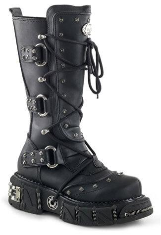 DMA-3000 Black Platform Boots