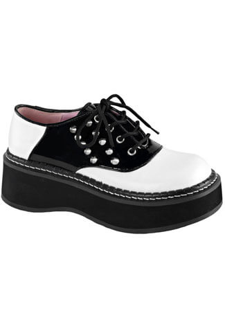 EMILY-303 Black White Shoes