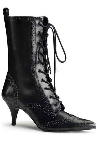FURY-100 Black Laceup Stiletto
