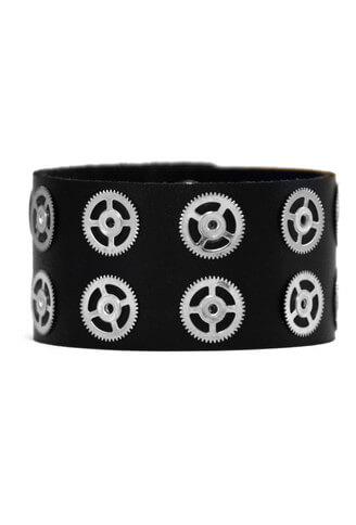 Gears Leather Wristband