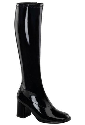 GOGO-300 Black Patent Boots