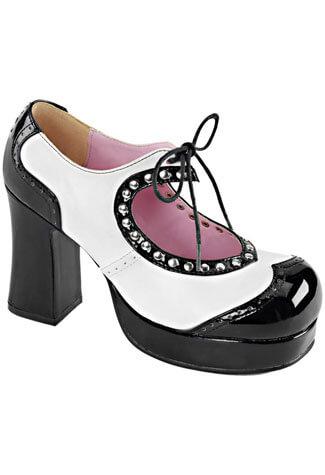 GOTHIKA-10 Black White Shoes