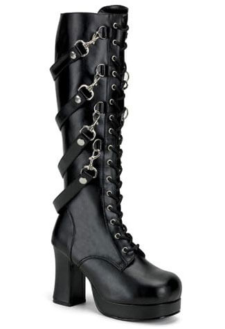 GOTHIKA-209 black strap boots