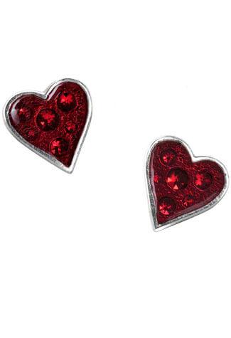 Heart's Blood Earring Studs