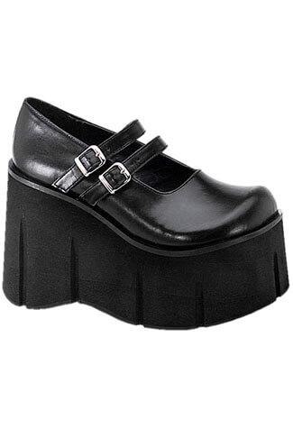 KERA-08 Black Platform Shoes