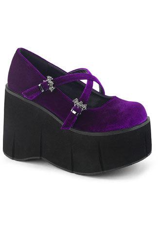 KERA-10 Purple Velvet Maryjane Shoes