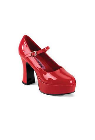 MARYJANE-50 Red Platform Heels