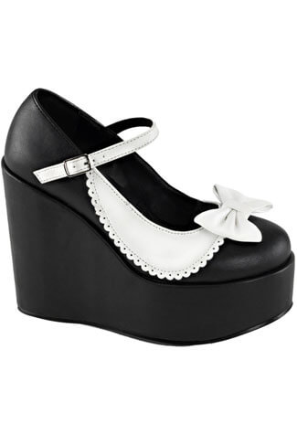 POISON-04 Black White Platforms