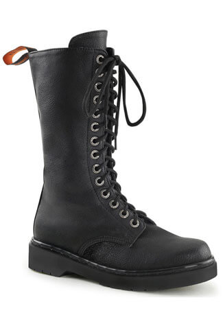 RIVAL-300 Black Lace Up Boots