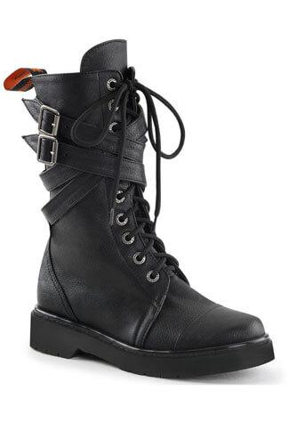 RIVAL-307 Black Strap Boots