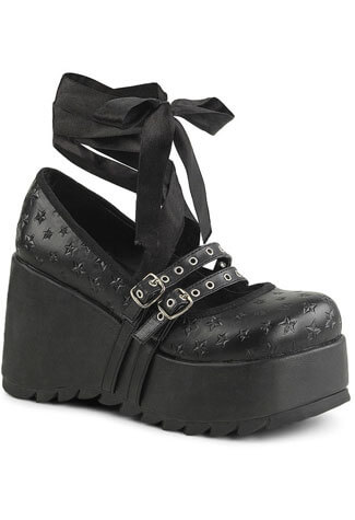 Scene-20 star platform shoes by Demonia