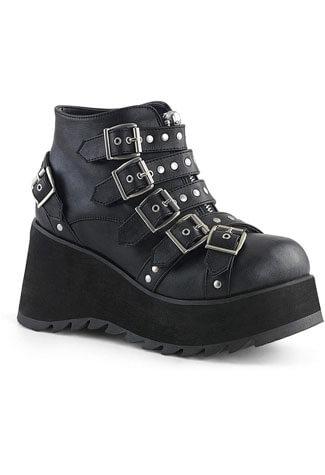 SCENE-30 Buckle Platform Shoes