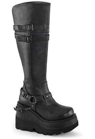 SHAKER-101 Vegan Black Boots