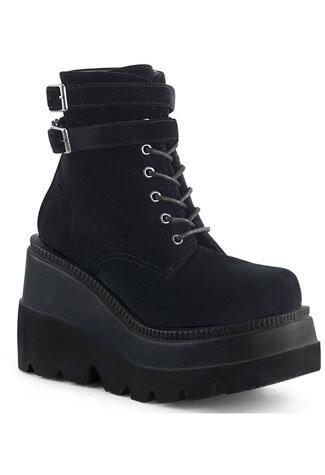 SHAKER-52 Black Velvet Boots