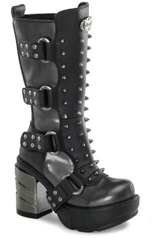 SINISTER-202 Chromed Spiked Boots