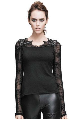 Sofia Womens Spider Web Long Sleeve Shirt
