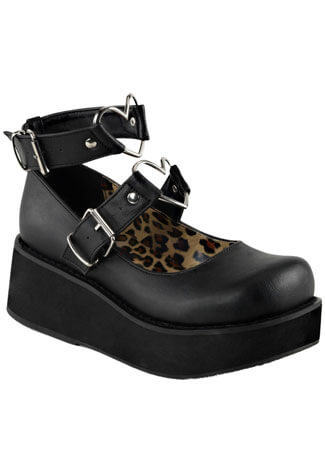 SPRITE-02 Black Platform Shoes