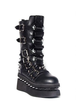 Stetchen Spiked Platform Boots