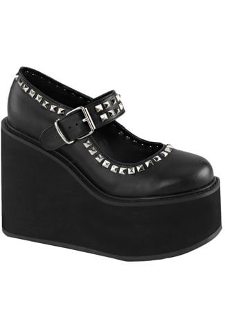 SWING-03 Black Platform Shoes