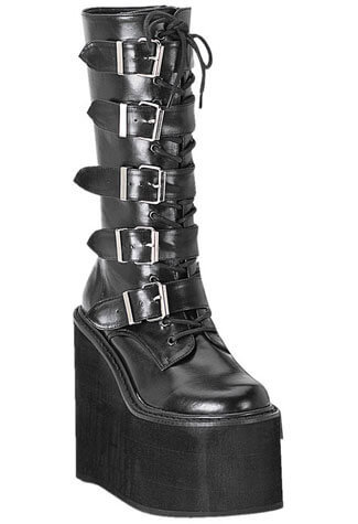 SWING-220 Black PU Boots