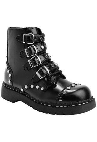T.U.K. T2240 Studded Black Boots