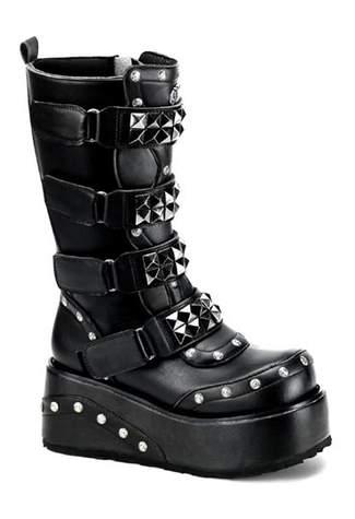 TRUCK-200 Black Platform Boots