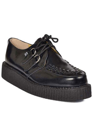 T.U.K. A6806 - Black Leather Creepers