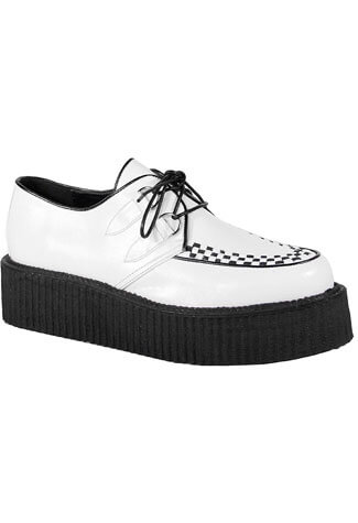 V-CREEPER-502 White PU Creepers