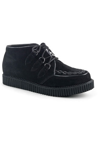 V-CREEPER-662 Black Suede Creepers