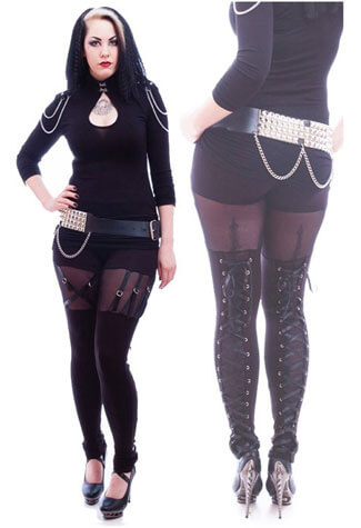 Gothic Venda Strap Leggings