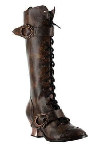 VINTAGE Brown Steampunk Boots