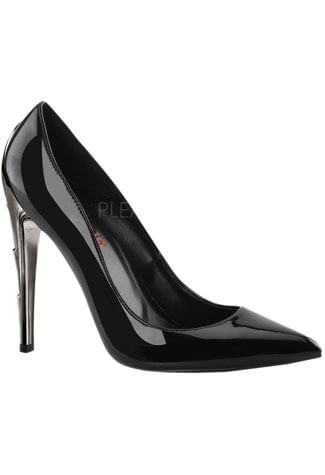 VOLTAGE-01 Black Patent Heels