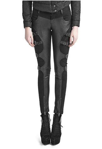 Warrior Leather Look Pants