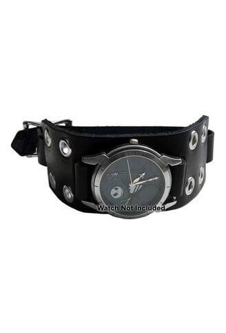 WB3E Black Leather Watchband