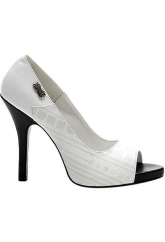 ZOMBIE-06UV White Stiletto Heels - Clearance
