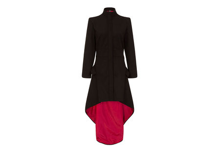 Medea Red Lined High-low Coat
