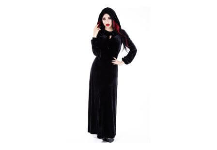 Sophia Hooded Velvet Maxi Dress