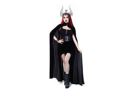 Thalia Gothic Velvet Cape