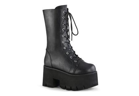 ASHES-105 lace-up platform boots